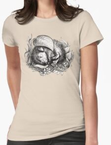 Baby hedgehog sleeping Womens Fitted T-Shirt
