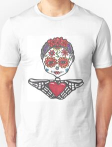 Day of the Dead woman with heart in hands Unisex T-Shirt