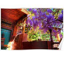 Artist's Home in Springtime - Bisbee, Arizona Poster