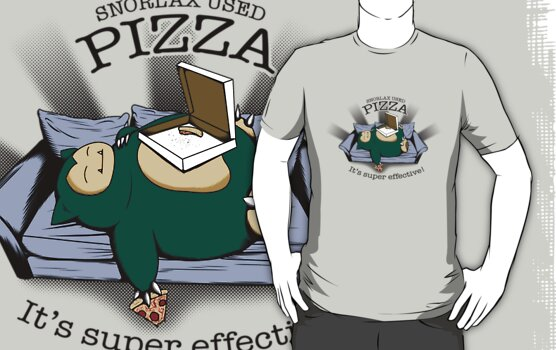 Snorlax used pizza... by Tom  Ledin