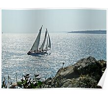 A Perfect Sailing Day in Rhode Island Poster