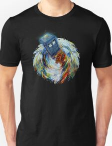 Blue Phone Booth jump into time Vortex art painting T-Shirt
