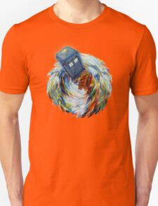 Blue Phone Booth jump into time Vortex art painting Unisex T-Shirt