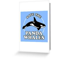 Save The Panda Whales Greeting Card