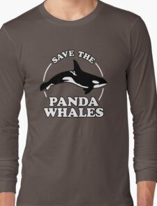 Save The Panda Whales Long Sleeve T-Shirt