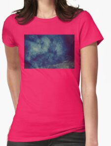 Smoke Texture with Paper Texture 6 Womens Fitted T-Shirt