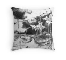Kingdoms Fall Throw Pillow