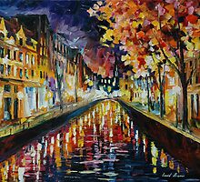 AMSTERDAM NIGHT - LEONID AFREMOV by Leonid  Afremov