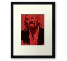 Branson in Red Framed Print