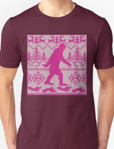 Gone Squatchin Ugly Christmas Sweater Knit Style Unisex T-Shirt