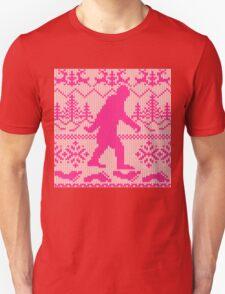 Gone Squatchin Ugly Christmas Sweater Knit Style Unisex T-Shirt