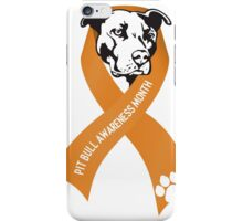 Pit Bull Awareness Ribbon iPhone Case/Skin