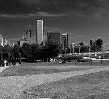 Chicago Scene in Black and White by WeeZie