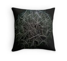 Dream Of Fractal Parachutes Throw Pillow