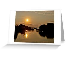Golden Piers Greeting Card