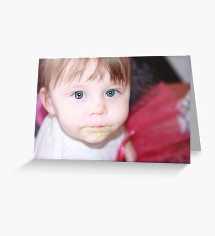 Blue Bell Face Greeting Card