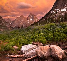 Sunset in the North Fork of Cascade Canyon by cavaroc
