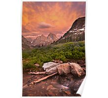 Sunset in the North Fork of Cascade Canyon Poster