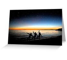 The Earth Glows Among Friends Greeting Card
