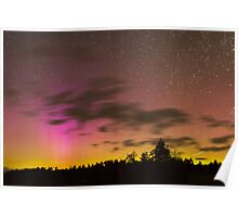 Northern Lights and Meteor Poster