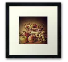Old Master style  - Apples and Poppies Framed Print