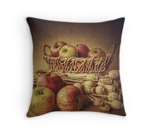 Old Master style  - Apples and Poppies Throw Pillow