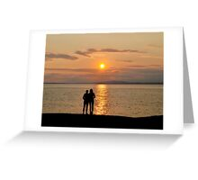 Miraculous Moment - Peggy's Cove Sunset Greeting Card