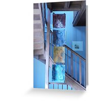 Four torsos in a stairway Greeting Card