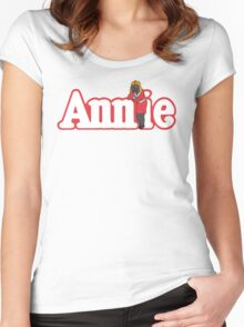 Little Orphan Annie Skywalker Women's Fitted Scoop T-Shirt