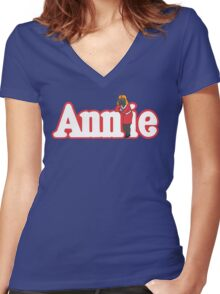 Little Orphan Annie Skywalker Women's Fitted V-Neck T-Shirt