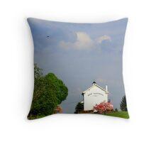 Township Building Throw Pillow