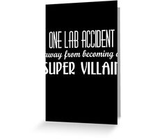 Super Villain Greeting Card