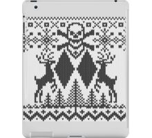 Double Black Diamond Crossbones Extreme Ugly Xmas iPad Case/Skin