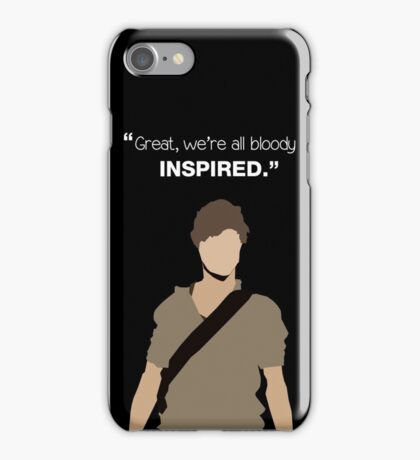 """""""Great, we're all bloody inspired."""" Newt - The Maze Runner iPhone Case/Skin"""