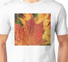 Detailed Fall Maple Leaf Texture 2 Unisex T-Shirt