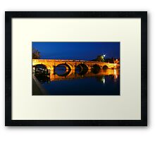 Blue hour at Henley Framed Print