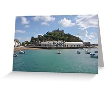 St Michael's Mount From The Ferry Boat Greeting Card