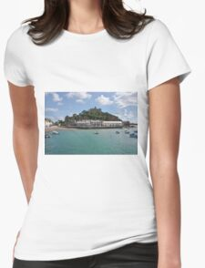 St Michael's Mount From The Ferry Boat Womens Fitted T-Shirt