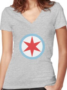 Captain Chicago (Dirty) Women's Fitted V-Neck T-Shirt