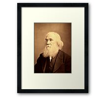 Lysander Spooner Portrait Anarchist Individualist Framed Print