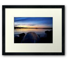 Lone Canoe - Lunenburg, NS, CA Framed Print