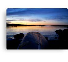 Lone Canoe - Lunenburg, NS, CA Canvas Print