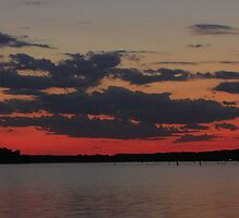 SunSet on Lake D'Arbonne by Cynthia Broomfield
