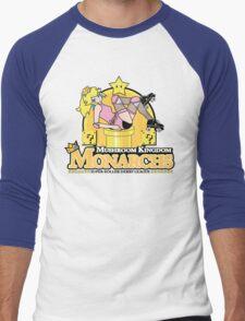 The Mushroom Kingdom Monarchs Men's Baseball ¾ T-Shirt