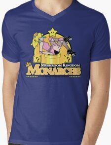 The Mushroom Kingdom Monarchs Mens V-Neck T-Shirt