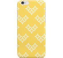 Geometric flowers on yellow iPhone Case/Skin