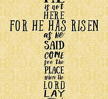 He is Not Here for He has Risen as He Said by SimplyPut