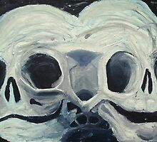 two headed skull by Followthedon