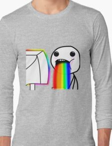Rainbow vomiting meme Long Sleeve T-Shirt