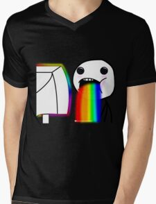 Rainbow vomiting meme Mens V-Neck T-Shirt